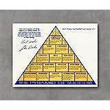 Kai'Sa John Wooden Autograph Replica Print - Pyramid of Success Poster Art Print Posters,18''×24'' Unframed Poster Print