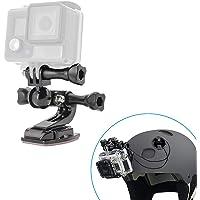 woleyi helmhouder voor GoPro, motorfietshelm houder met veiligheidskabel, 360 graden zwenkarm, gebogen helm kinmontageset voor GoPro Hero 2018 7 6 5 4 Session 3 + 3, SJCAM andere actiecamera