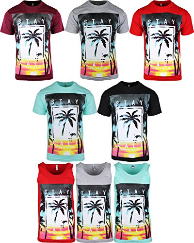 Stay Cali Mens California Shirts and Tank Tops Pardise of the Planet