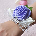 MOJUN-Bridal-Bridesmaid-Wedding-Wrist-Corsage-Hand-Flower-for-Wedding-Party-Prom-Pack-of-2-Lavender