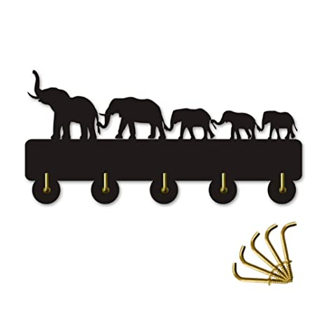 AUUNY Elefante Diseño Silihouette Percha de Madera Ropa ...