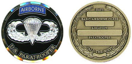Airborne Paratrooper Basic Course Challenge Coin