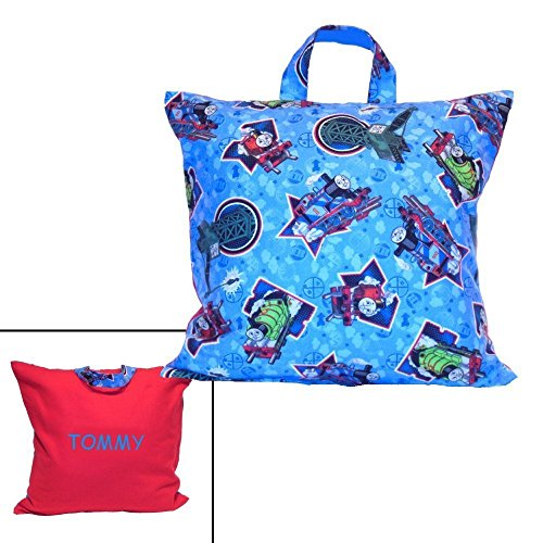 Percy 3 Car (Train Pillow for Kids - Personalized for Travel - Made From Thomas the Tank Engine Fabric - Toddler Boy)