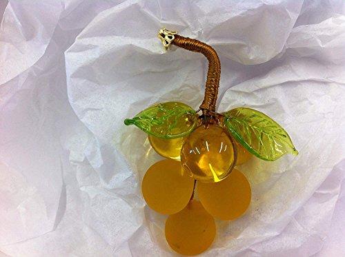 Small Murano Glass - Murano Glass Grape Cluster, Gold, Small