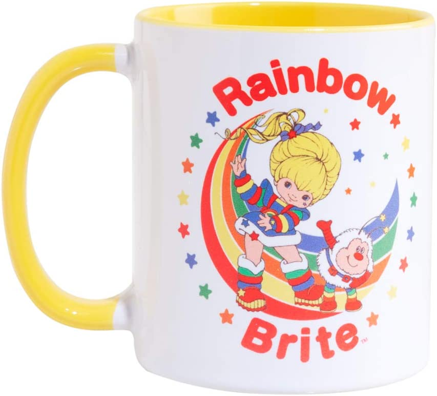 Rainbow Brite Yellow Handle Mug
