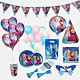 Frozen Birthday Party Supplies for 12 Princesses with 170 Plus Items | Birthday Party Supplies | Frozen Party Supplies | Princess Birthday Party Supplies | Princess Party Decorations | Anna Olaf Elsa