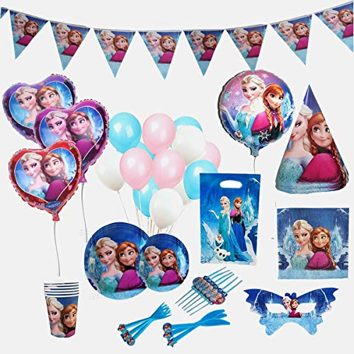 Frozen Party Items (GK Galleria Frozen Birthday Party Supplies for 12 Princesses with 170 Plus Items - Birthday Party Supplies - Frozen Party Supplies - Princess Birthday Party Supplies - Princess Party Decorations)