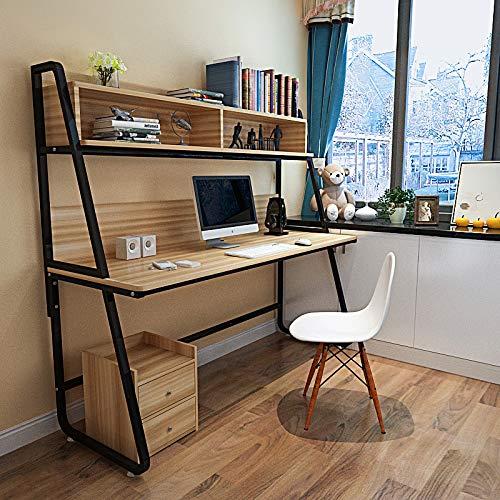 xinrongqu Creative Computer Schreibtisch    Ecke Schreibtisch mit Holz Regalkombination   Schreibtisch   120  60  158cm B D