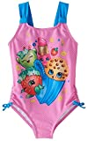 Shopkins Girls Swimsuit Swimwear (6, Shop Pink)