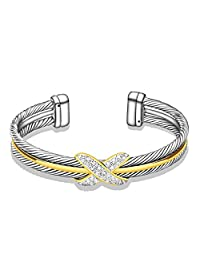 UNY Fashion jewelry Brand Cable Wire Retro Antique Bangle Elegant Beautiful Valentine Mothers day Gift