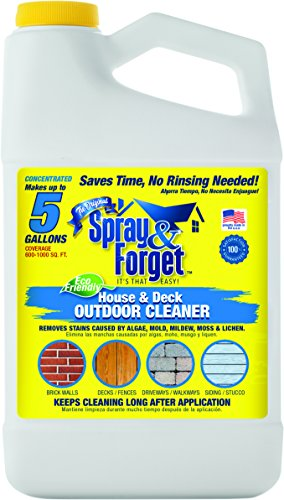 Spray & Forget SFHD64OZ  House & Deck Cleaner Concentrate, 64 oz Bottle, 1 Count, Outdoor Cleaner, Mold Remover, Mildew Remover (Patio Concrete Pavers Over)