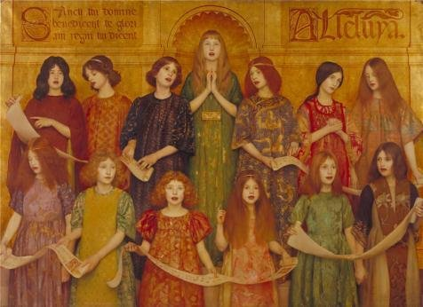 Oil Painting 'Thomas Cooper Gotch - Alleluia,1896', 20 x 28 inch / 51 x 70 cm , on High Definition HD canvas prints is for Gifts And Bed Room, Game Room And Garage Decoration, printart (Kennel Built Dog Smith)