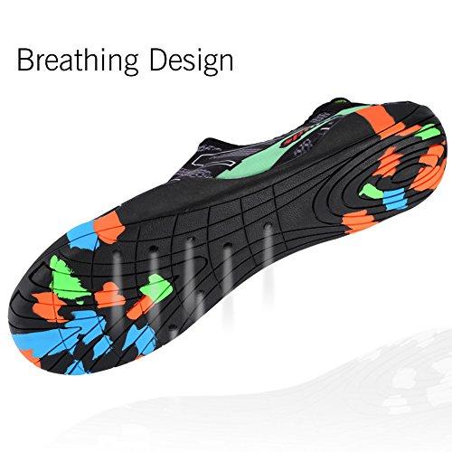 Plage La Bandes Unisexes Apne Schage Qimaoo Sport L'air D'eau Rapide Chaussettes Chaussures De En L'eau Sur Yoga Noir Hommes Natation Du Plonge Pour Aqua OTxqfn4