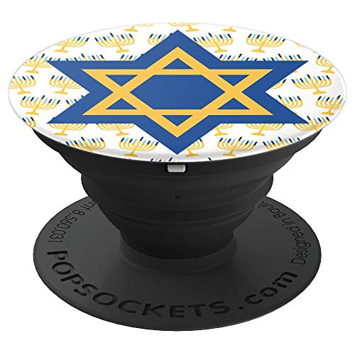 (Jewish Star Of David Menorah Candles Hanukkah Gift Zx - PopSockets Grip and Stand for Phones and Tablets)