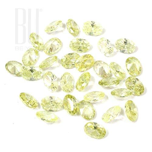 Be You Péridot Lumière Couleur Zircone Cubique AAA Qualité 2.5x3.5 mm Diamant Coupe Ovale Forme 500 pcs gemme