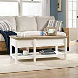 Sauder 421463 Cottage Road Lift Top Coffee Table, Soft White Finish