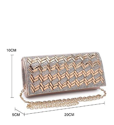 Silver Evening Handbag Diamante Envelope Ladies Glitter Women's Clutch Bag Purse Party ME68035 OPYqF