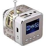 Andoer Mini Digital Portable Music MP3/4 Player Micro SD/TF USB Disk Speaker FM Radio Silver