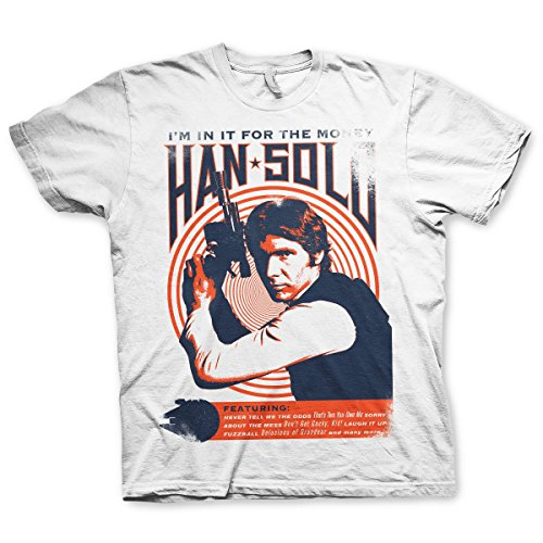 Offizielles Lizenzprodukt Han Solo - I´m In It For The Money T-Shirt (Weiß)
