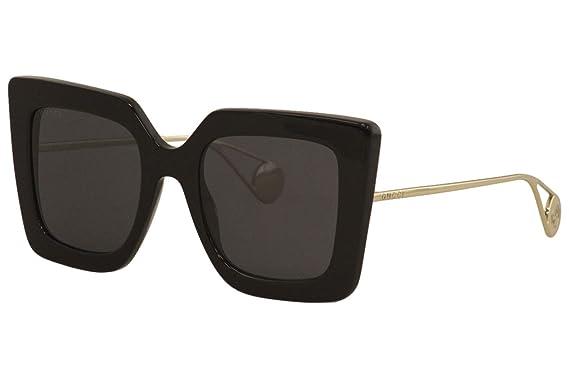 Sunglasses Gucci GG 0435 S- 001 BLACK/GREY GOLD