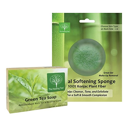Green Tea Soap + Konjac Facial Sponge | COMBO PACK