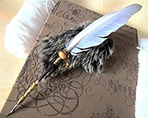 amazon com feather quill pen angels wing ink dip porcupine quill