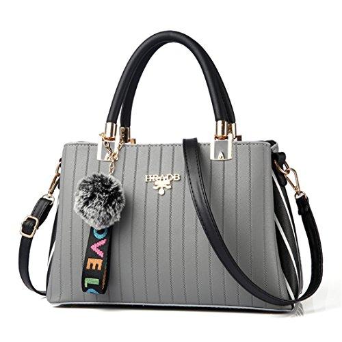 Dunland Femme mode pour dames sac à main Classique Exquisite élégant sac à bandoulière Grand Gris