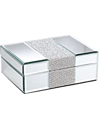 Lyza Rhinestone Mirrored Jewelry Box