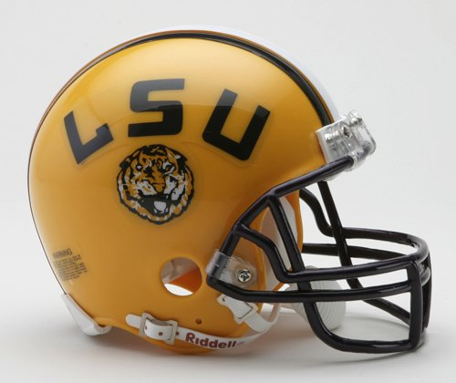 (NCAA LSU Tigers Replica Mini Football Helmet)
