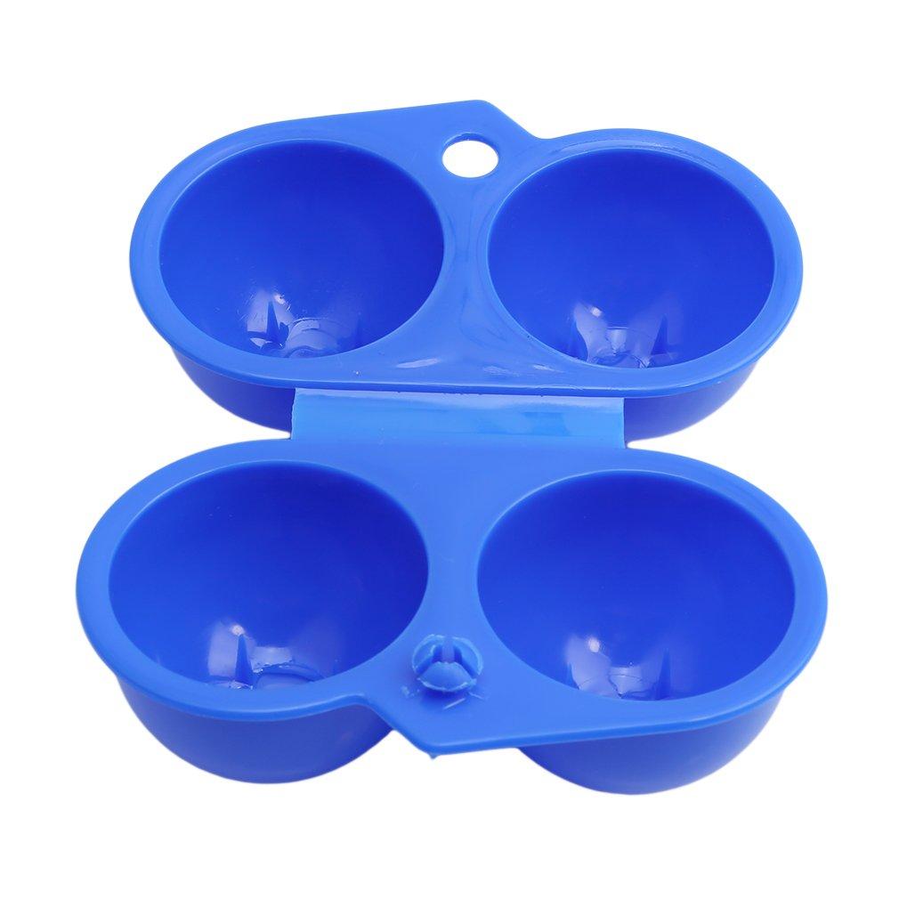 Meolin Plastic Portable Egg Holder Camping 2 Eggs Carrier Outdoor Egg Box,blue,4.522.362.75in