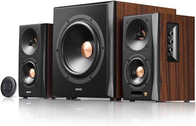 Edifier S360db 2 1 Regellautsprecher Und Subwoofer Lautsprechersystem Bluetooth V4 1 Aptx Kabelloser Sound Für Arbeitszimmer Wohnzimmer Und Kleine Räume Audio Hifi