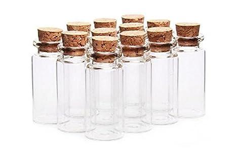 6pcs 20 ml frascos de vidrio que deseen botellas con tapón ...