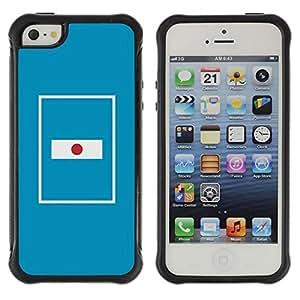 Suave TPU GEL Carcasa Funda Silicona Blando Estuche Caso de protección (para) Apple Iphone 5 / 5S / CECELL Phone case / / Flag Nation Country Blue Minimalist /