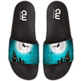 Halloween Gifts Witch Flying Summer Slides Slippers For Boy Girl Indoor Beach Sandal Shoes size 2