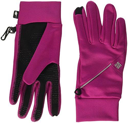 Columbia Women's Trail Summit Running Gloves, Deep Blush, Large