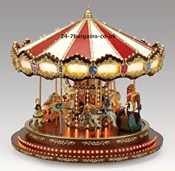 Mr Christmas Grand Marquee Musical Carousel with Lights: Amazon.co ...