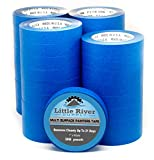 Little River Supply Blue Painters Tape 1 Inch Professional Quality Multi-Surface Masking Tape Clean Edges and Easy Release Made in The USA 1'' X 60 YDS Case of 36