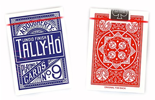 Tally-Ho Fan Back Design Playing Cards 12 Decks (6 Red, 6 (Tally Ho Fan)