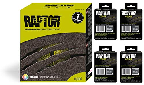 Raptor UP5056 Truck Bed Liner 1US Gallon + 4 Basalt Gray Colors Bundle