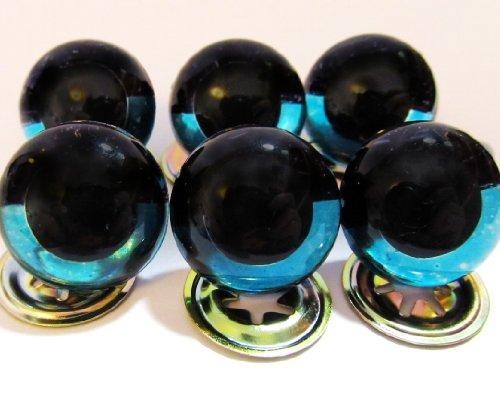 5 Pair of 15mm Premium Craft Eyes - Sleepy Sky Blue