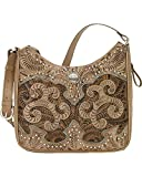 American West Women's Hand Tooled Concealed Carry Shoulder Bag Sand One Size