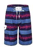 Nonwe Men's Swimwear Quick Dry Striped Beach Shorts