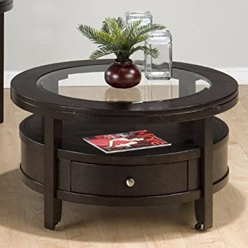 Jofran Marlon Wenge Cocktail Table   Round