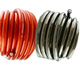 10' ft 4 Gauge 5' RED and 5' Black Car Audio Power Ground Wire Cable Feet AWG