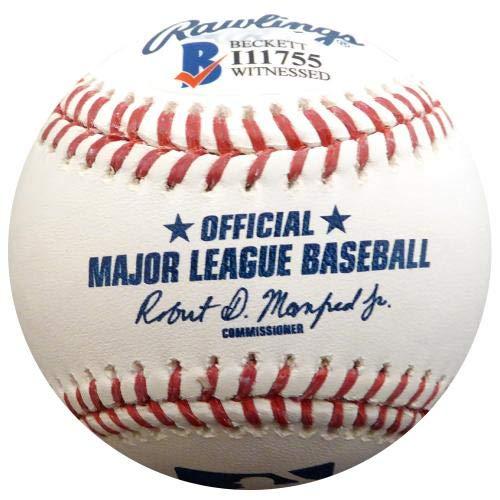 Beckett Authentication Official Beckett BAS Stock #123700 Autographed Baseballs Trey Mancini Signed Baseball