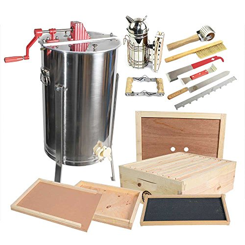 GoodLand Bee Supply 2 Frame Honey Extractor with Bee Broo...