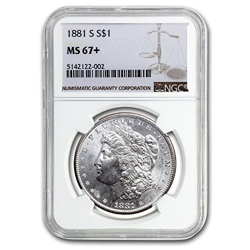 1881 S Morgan Dollar MS-67+ Plus NGC $1 MS-67 NGC