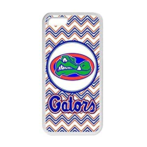 Generic Customize Unique Otterbox--NCAA Florida Gators Team Logo Plastic and TPU Black and White Case Cover for iPhone5C