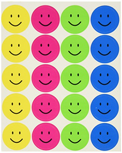 UPC 088231967828, School Smart Self Stick Smiles Stickers - 1 inch - Pack of 1560 - Assorted Colors