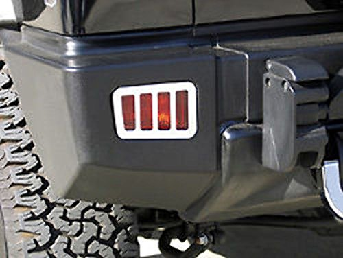 H20048SC 05-10 H2 Hummer SUV & SUT Chrome Billet Rear Bumper Light (Hummer H2 Sut Parts)